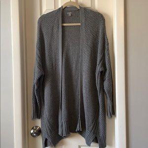 Aerie gray sweater knit cardigan L/XL